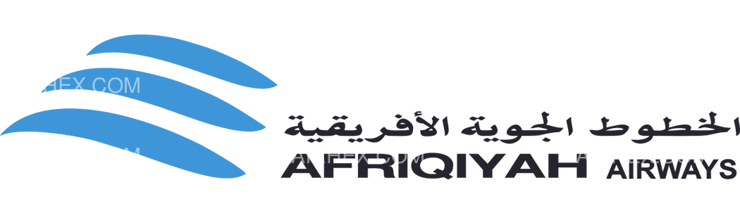 Afriqiyah Airways logo with name