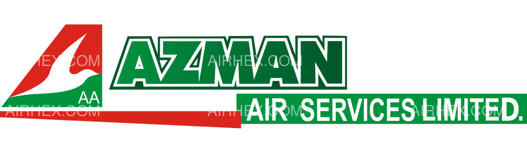 Azman Air logo with name