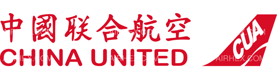 China United Airlines logo with name