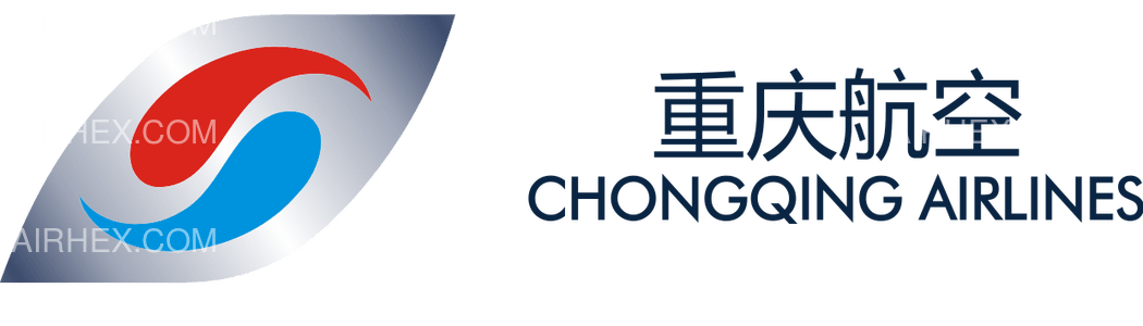 Chongqing Airlines logo with name