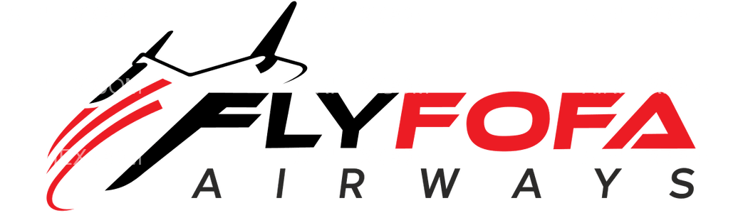 Flyfofa Airways logo with name