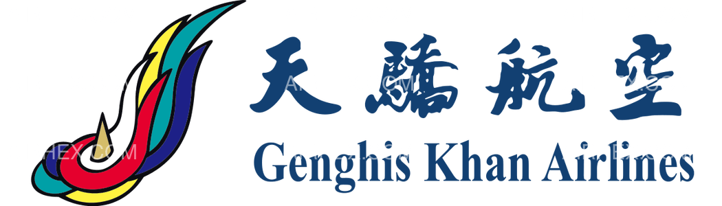 Genghis Khan Airlines logo with name