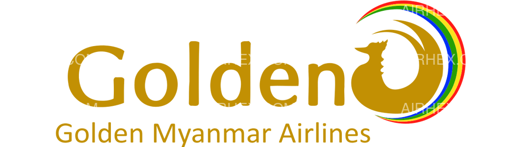 Golden Myanmar Airlines logo with name