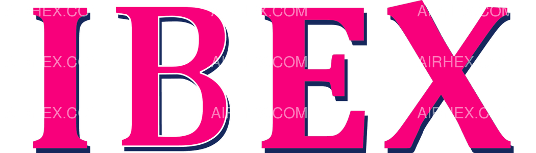 Ibex Airlines logo with name