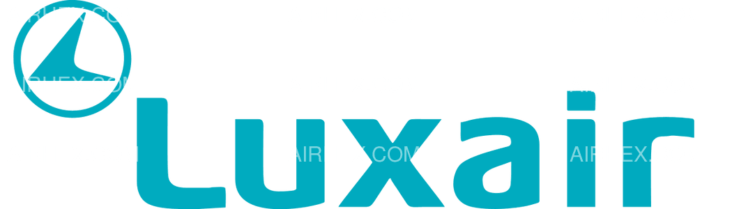 Luxair logo with name