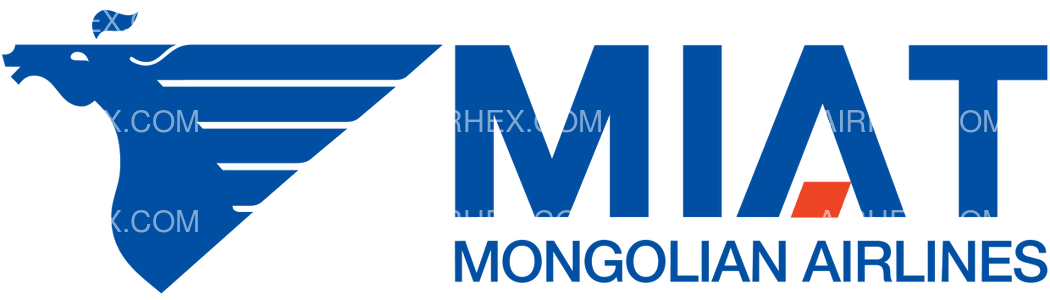 MIAT Mongolian Airlines logo with name