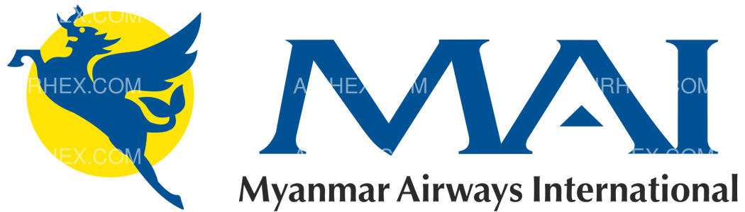 Myanmar Airways International logo with name