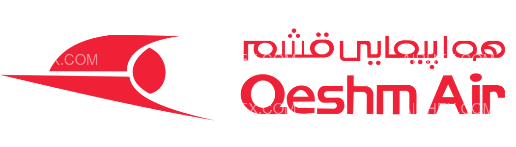 Qeshm Air logo with name