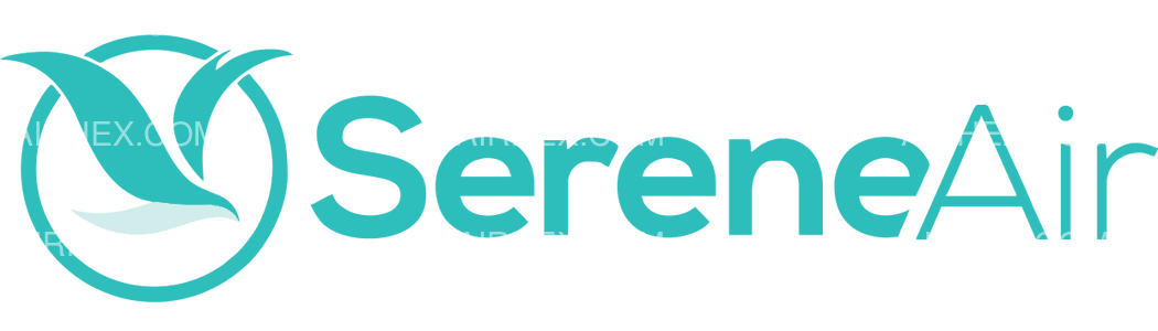 Serene Air logo with name