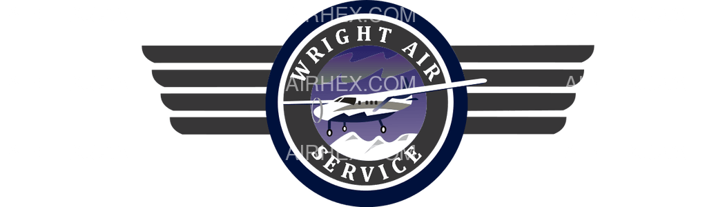 Wright Air Service logo with name